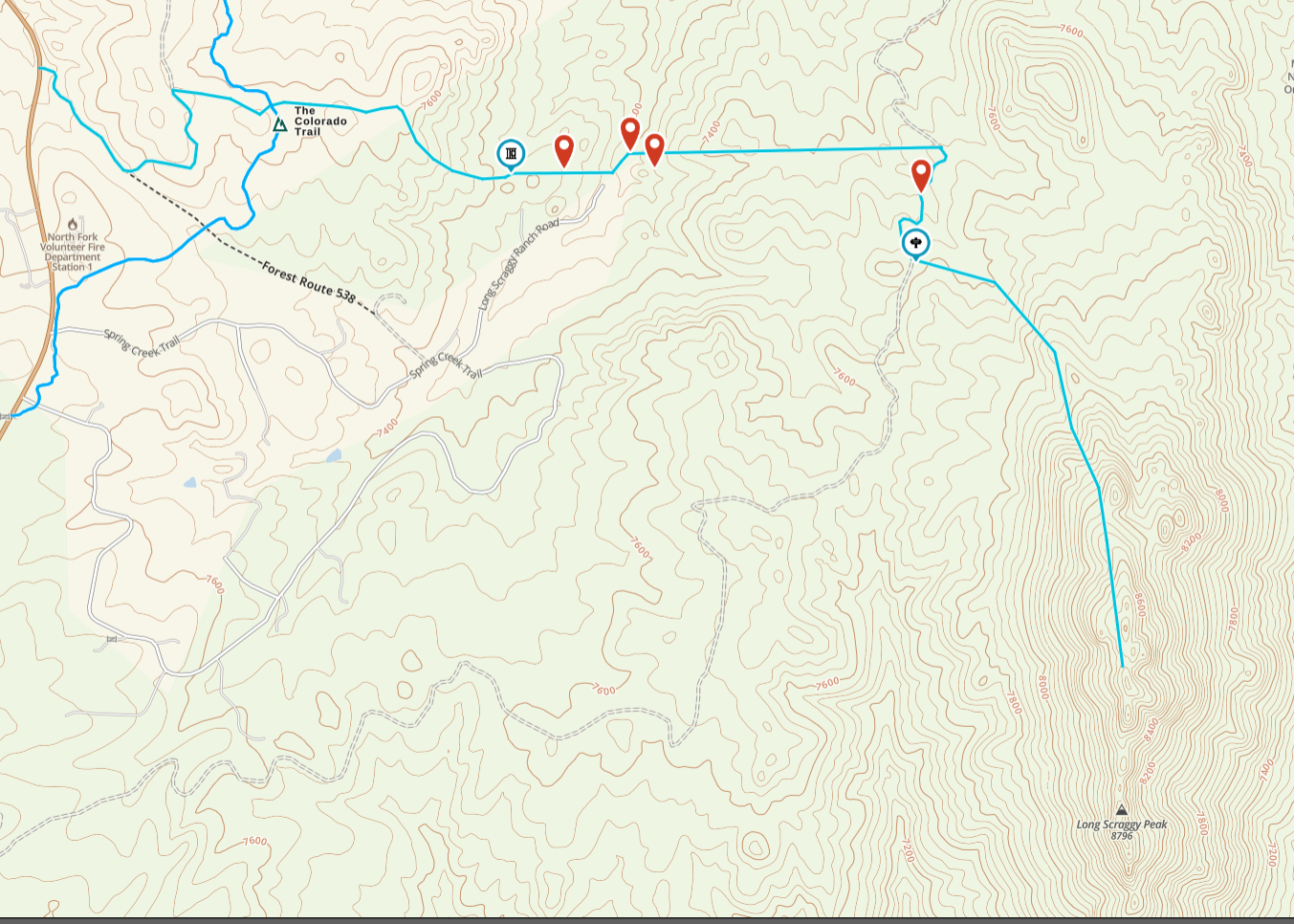 The map and planned route, more or less.
